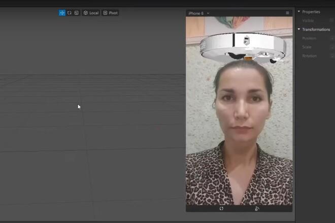 Маски для Инстаграм Эксклюзивные 3Д эффекты Instagram 3D FaceBook VK 2 - kwork.ru