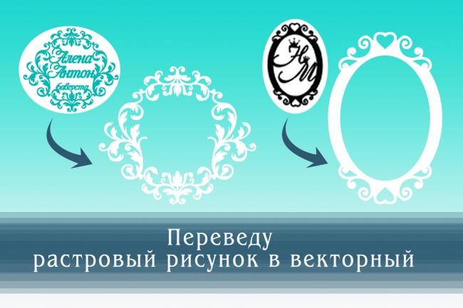 Перерисую растровое изображение в векторное 8 - kwork.ru