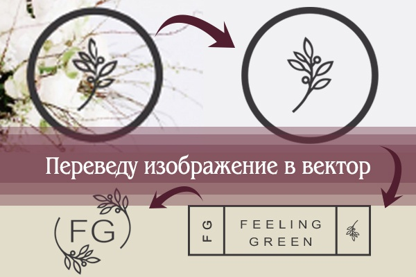 Перерисую растровое изображение в векторное 15 - kwork.ru