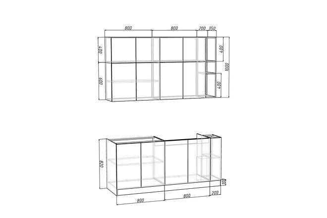 Проект корпусной мебели, кухни. Визуализация мебели 45 - kwork.ru