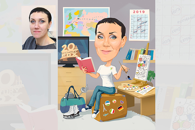 Дружеский шарж по фото, карикатура 20 - kwork.ru