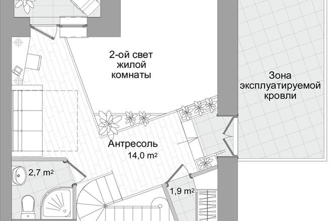 Планировка двухкомнатной квартиры за 24 часа 1 - kwork.ru