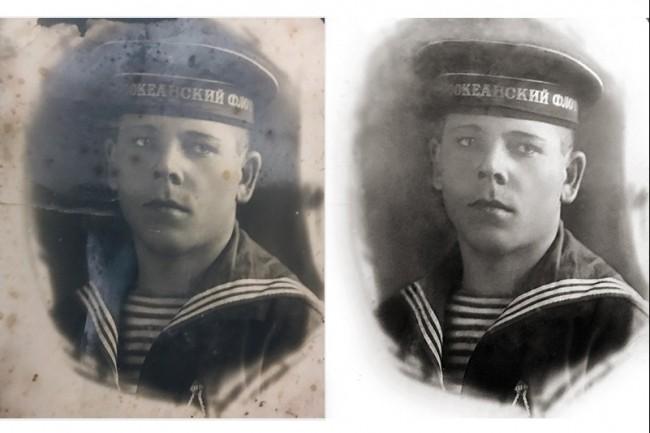 Ретушь, реставрация и восстановление старинных фотографий 1 - kwork.ru