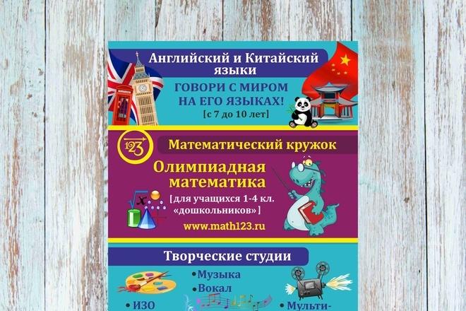 Макет листовки, флаера 32 - kwork.ru