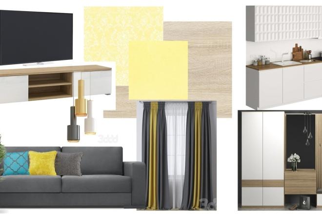 Дизайн интерьера. Консультация, план мебели, коллаж 2 - kwork.ru