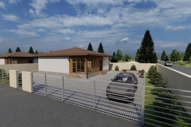 Фотореалистичная 3D визуализация экстерьера Вашего дома 122 - kwork.ru