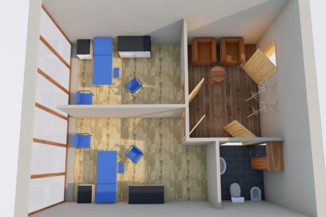 Создам планировку дома, квартиры с мебелью 43 - kwork.ru