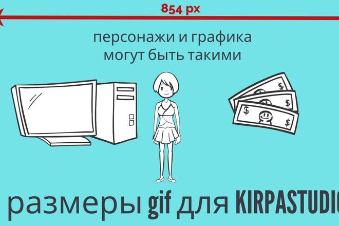 Сделаю гиф анимацию с инфографикой и персонажами 5 - kwork.ru