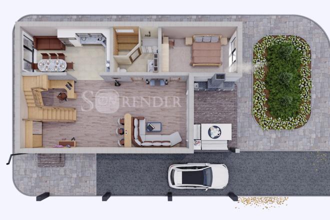 Фотореалистичная 3D визуализация экстерьера Вашего дома 21 - kwork.ru