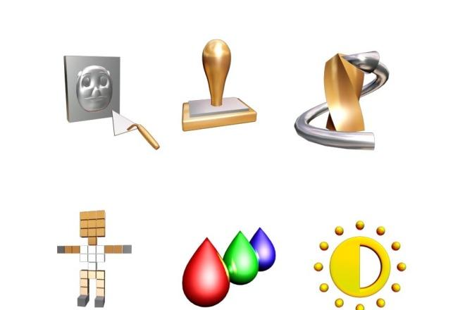 Создам объёмные иконки 5 - kwork.ru