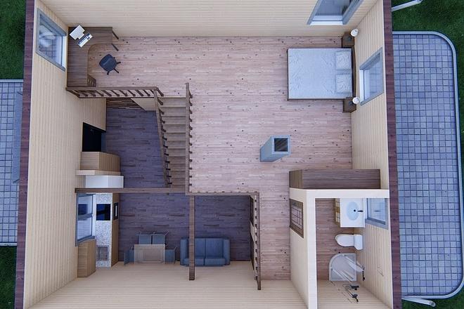 Фотореалистичная 3D визуализация экстерьера Вашего дома 136 - kwork.ru