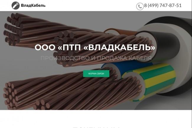Создание одностраничника на Wordpress 180 - kwork.ru