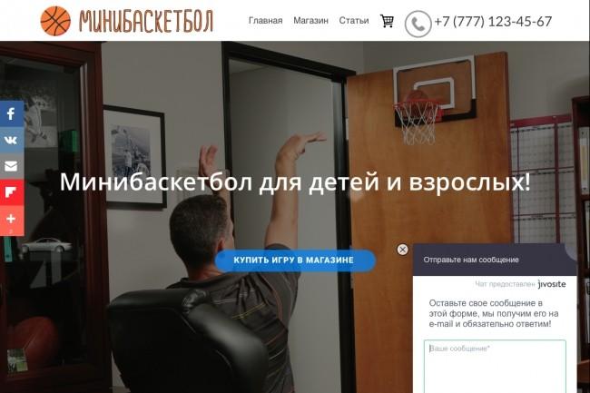 Создание одностраничника на Wordpress 175 - kwork.ru