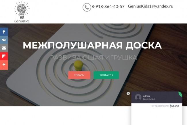 Создание одностраничника на Wordpress 173 - kwork.ru