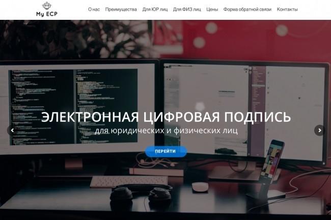 Создание одностраничника на Wordpress 167 - kwork.ru