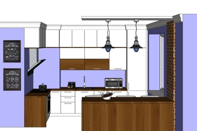 Дизайн-проект кухни. 3 варианта 2 - kwork.ru