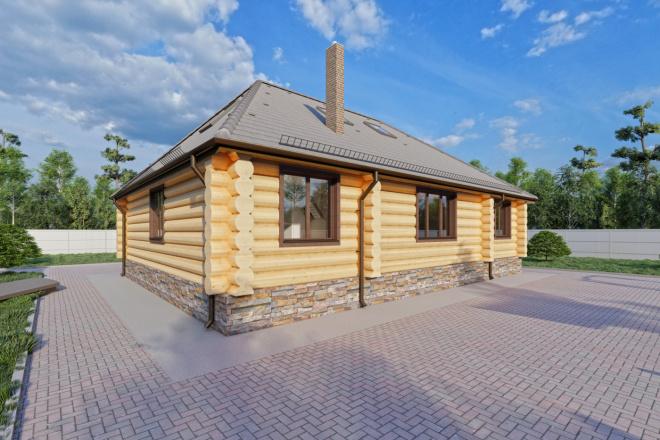 Фотореалистичная 3D визуализация экстерьера Вашего дома 88 - kwork.ru