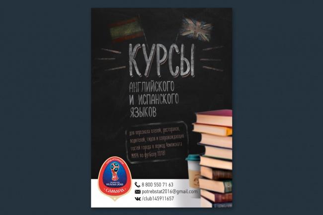 Разработаю дизайн флаера, акционного предложения 43 - kwork.ru