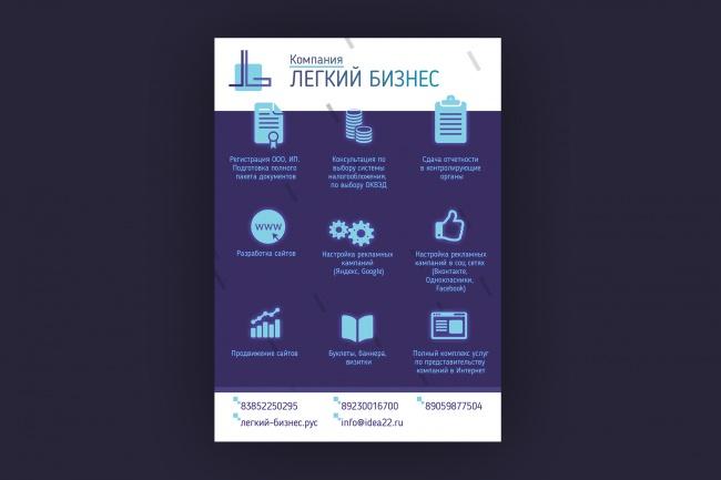 Разработаю дизайн флаера, акционного предложения 53 - kwork.ru