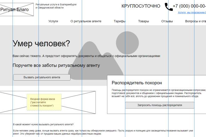 Прототип + текст лендинга 4 - kwork.ru