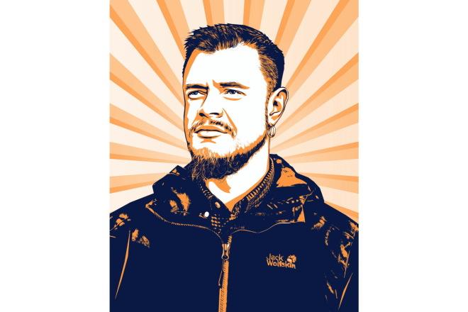 Качественный поп-арт портрет по вашей фотографии 8 - kwork.ru