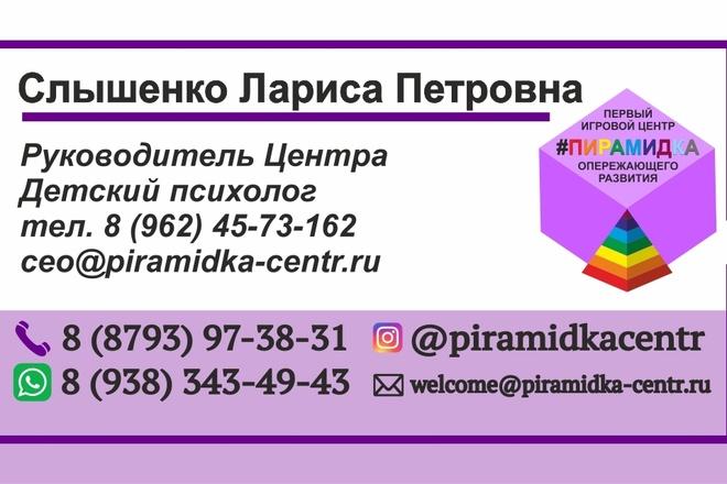 Создание визитки 1 - kwork.ru