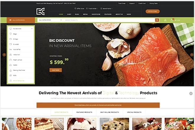 ECode многоцелевая WooCommerce тема интернет-магазина на Wordpress 3 - kwork.ru