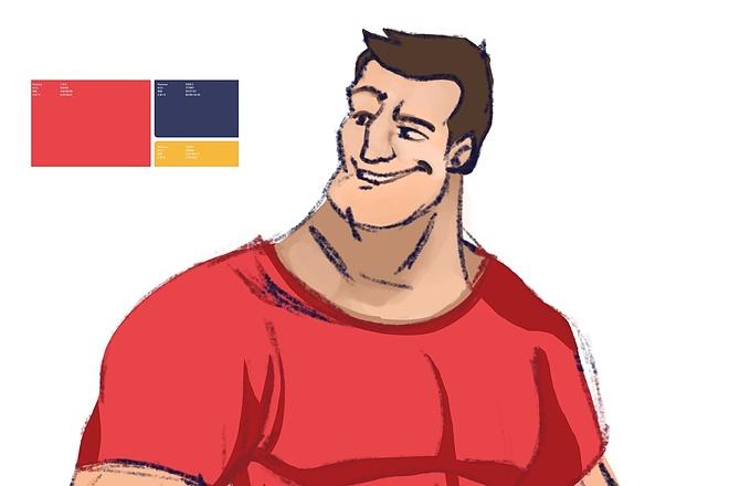 Создам персонажа или обложку с персонажем 2 - kwork.ru