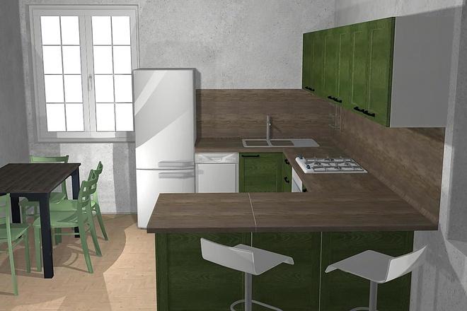 Создам 3D дизайн-проект кухни вашей мечты 11 - kwork.ru