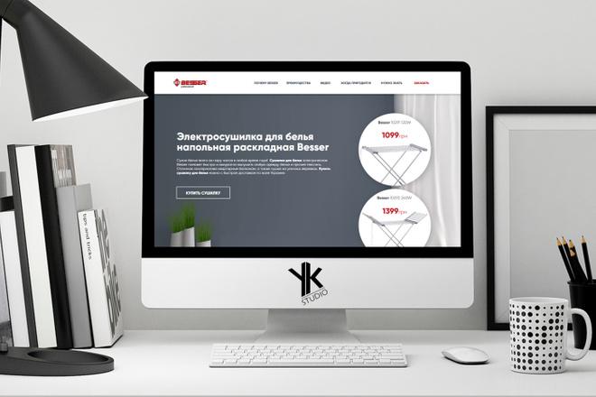 Лендинг под ключ, крутой и стильный дизайн 21 - kwork.ru