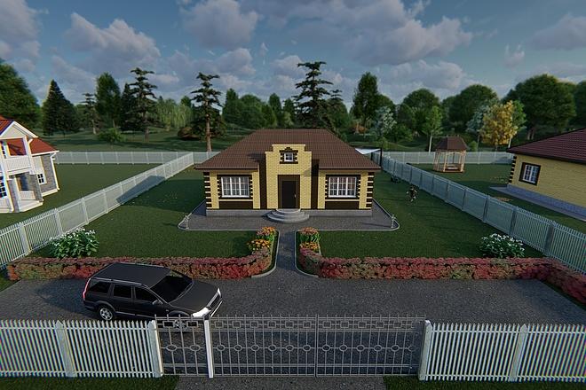 Фотореалистичная 3D визуализация экстерьера Вашего дома 167 - kwork.ru