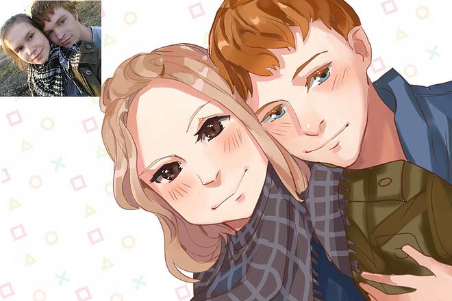Создам ваш портрет в стиле аниме 15 - kwork.ru