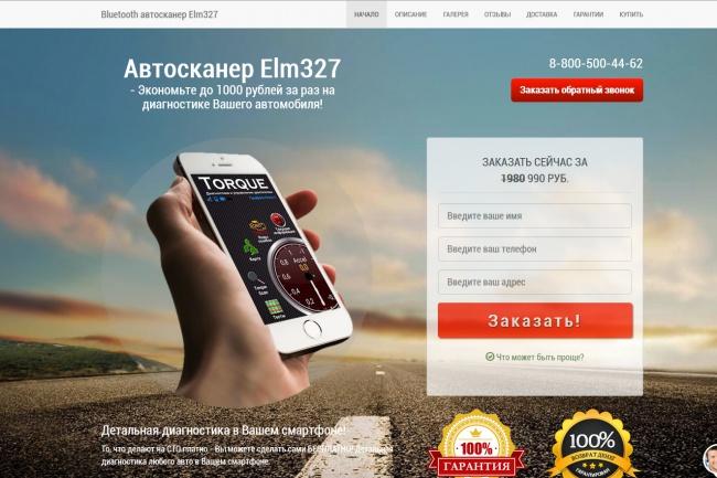 Копии двух лендингов из каталогов товарных CPA за 500 рублей 19 - kwork.ru