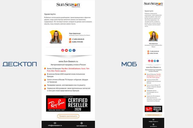 Дизайн и верстка адаптивного html письма для e-mail рассылки 7 - kwork.ru