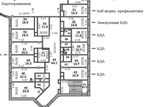 Окажу помощь в создании плана объекта 9 - kwork.ru