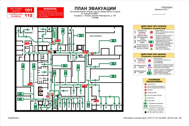 Разработаю план эвакуации недорого 2 - kwork.ru