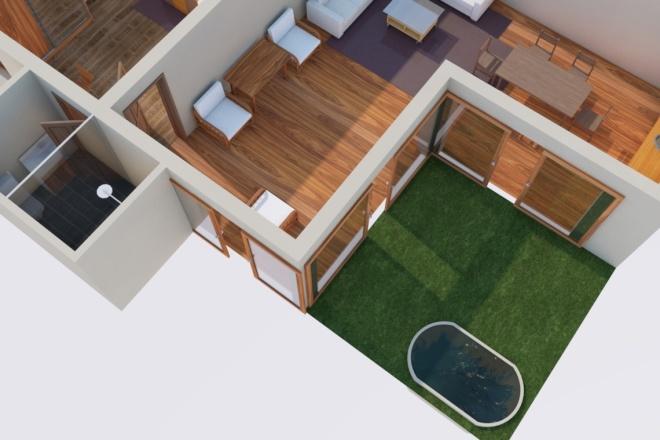 Создам планировку дома, квартиры с мебелью 22 - kwork.ru