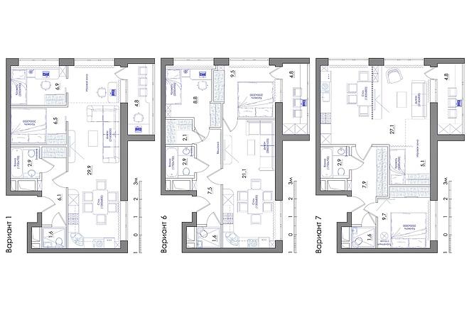 Планировка квартиры или жилого дома, перепланировка и визуализация 43 - kwork.ru
