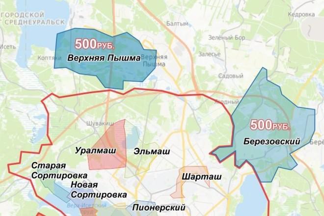 Отрисовка и оформление карт, схем 11 - kwork.ru