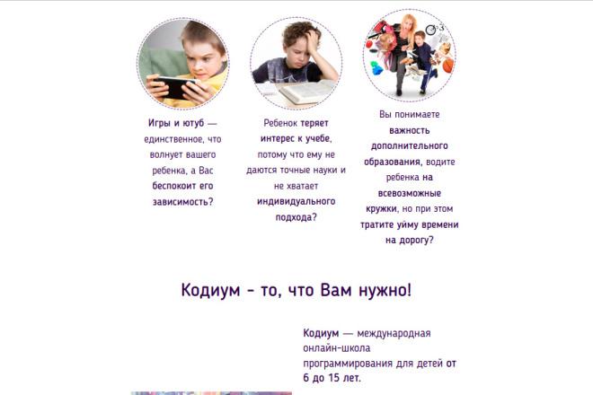 Скопирую страницу любой landing page с установкой панели управления 74 - kwork.ru
