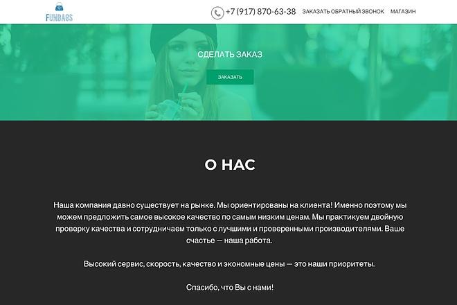Создание одностраничника на Wordpress 62 - kwork.ru