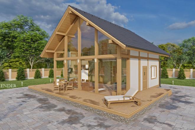 Фотореалистичная 3D визуализация экстерьера Вашего дома 14 - kwork.ru