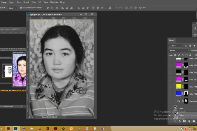 Реставрация фотографии, из чб в цветной, коррекция, восстановление 5 - kwork.ru