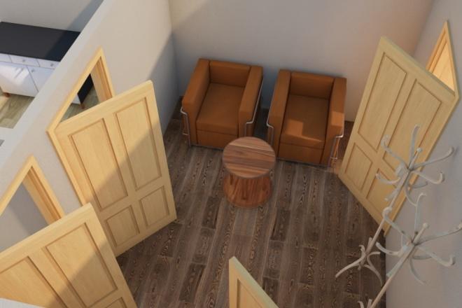 Создам планировку дома, квартиры с мебелью 42 - kwork.ru