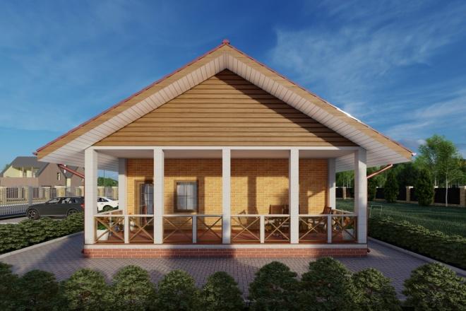 Фотореалистичная 3D визуализация экстерьера Вашего дома 98 - kwork.ru