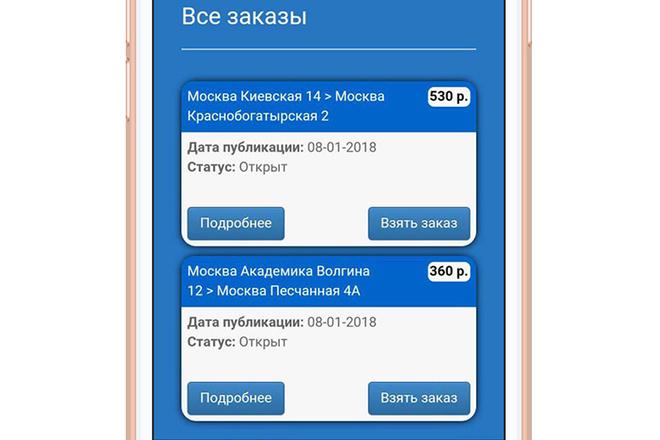 Разработка мобильного приложения под ключ 13 - kwork.ru