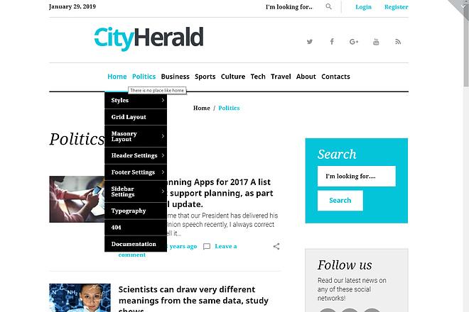 Премиум тема CityHelard для Wordpress + бонус 2 - kwork.ru