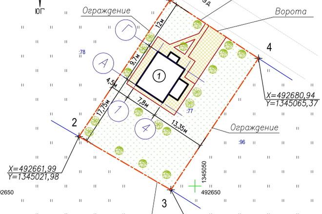 Схема планировочной организации земельного участка - спозу 18 - kwork.ru