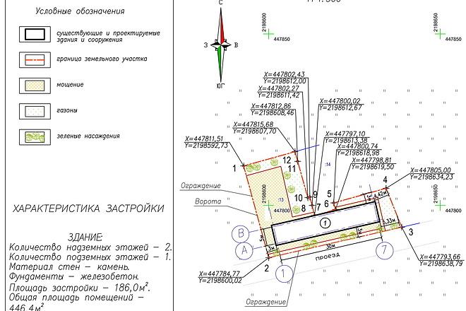 Схема планировочной организации земельного участка - спозу 16 - kwork.ru
