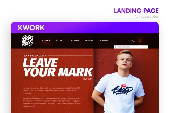 Дизайн страницы Landing Page 3 - kwork.ru